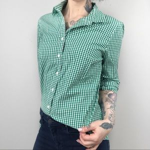 J CREW Stretch Perfect Shirt in Gingham